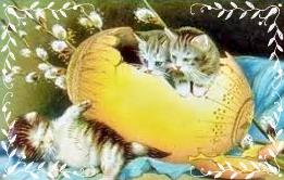 gatti e uovo di Pasqua
